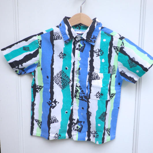 【USED】Stripe and Dot Print Shirts (Made in U.S.A.)