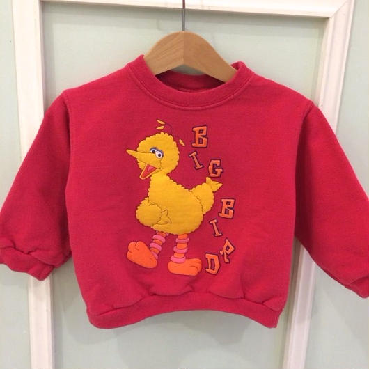 "【USED】""SESAME STREET"" Red Sweat (Made in U.S.A.)"