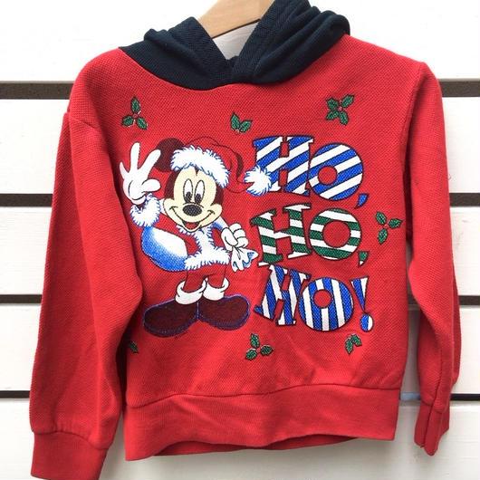 "【USED】""MICKEY"" CHRISTMAS motif sweater"
