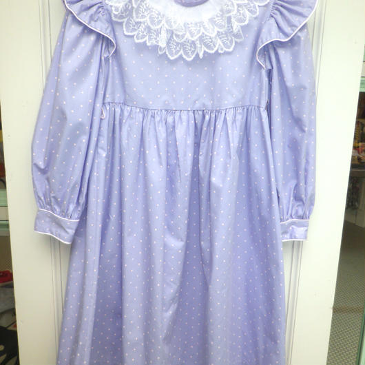 【USED】Formal Lace Collar Dot Dress