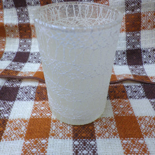 【USED】Vintage 50's Squiggle Small White Glass