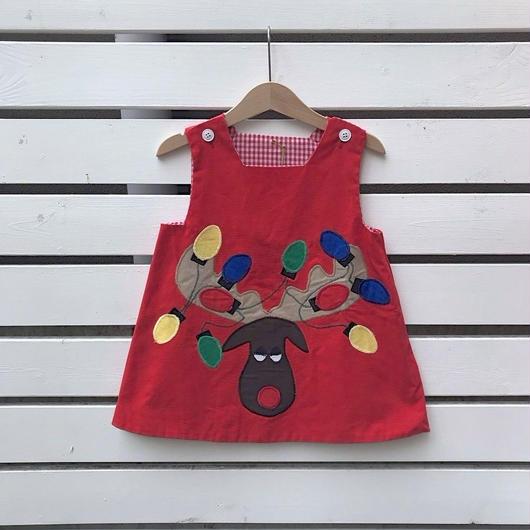 346.【USED】Reindeer Red Dress