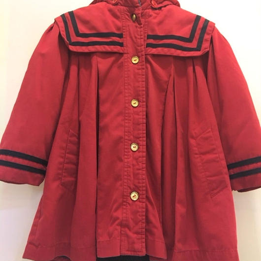 【USED】Sailor collar Red long Coat