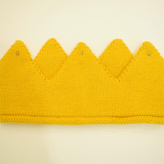 【oeuf】KNIT CROWNS /yellow
