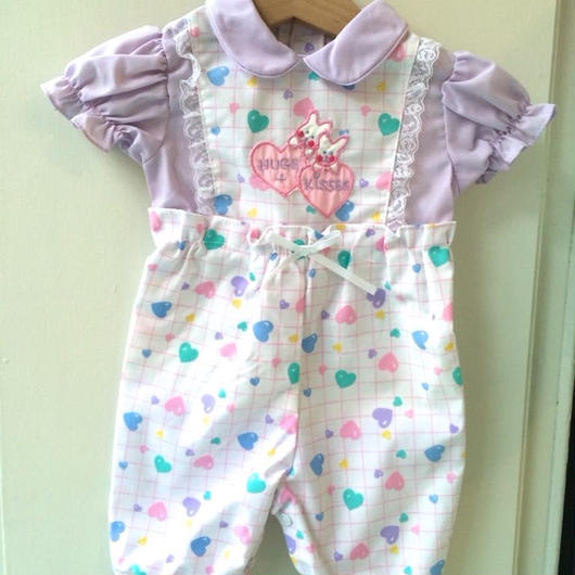 【USED】Colorful heart rompers