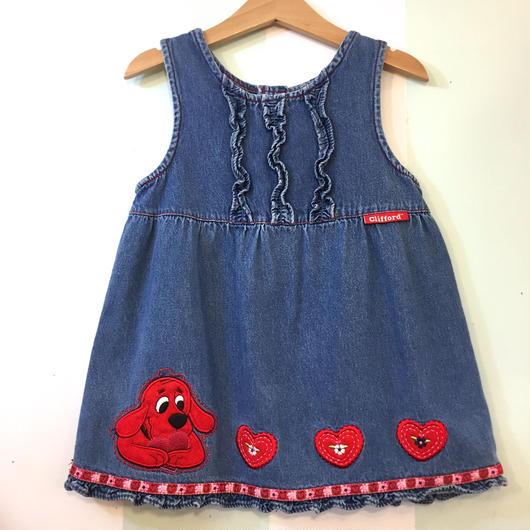 【USED】Clifford the Big Red Dog Denim dress