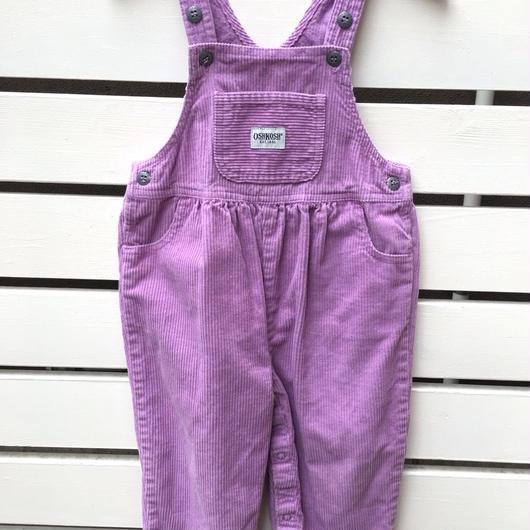 "133.【USED】""OSHKOSH""corduroy pastel purple overall"
