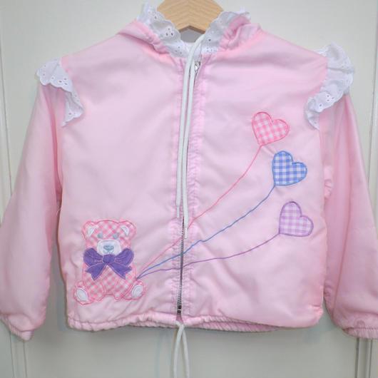 86.【USED】Pink Bear Hoodie