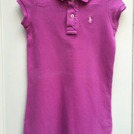 "【USED】""Ralph Lauren"" Pink polo dress"
