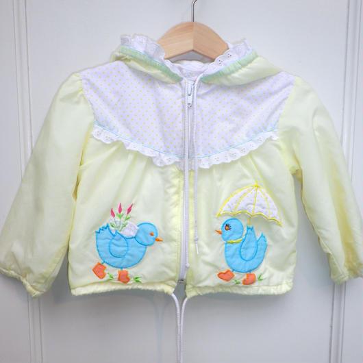 84.【USED】Bird Print Hoodie