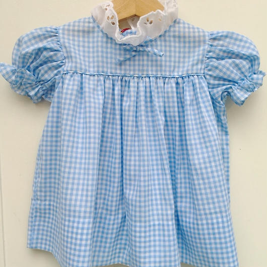 【USED】 《VINTAGE》Gingham check Dress