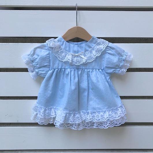 14.【USED】Vintage Dreamy blue lace design Dress