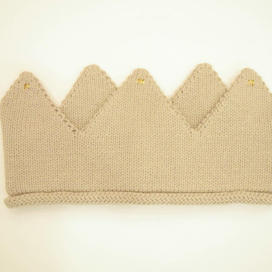 【oeuf】KNIT CROWNS / light gray