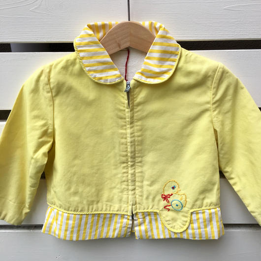 85.【USED】Chick embroidery Yellow jacket