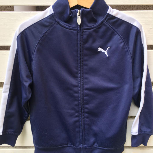"""【USED】""""PUMA""""  navy×white track top"""