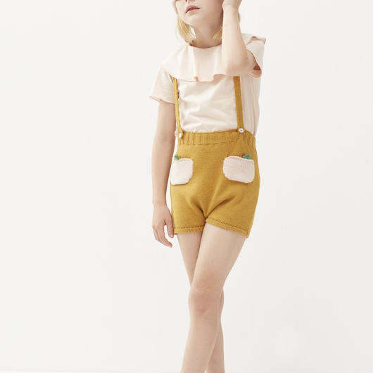 【oeuf】PEACH POCKET SHORTS /  ochre