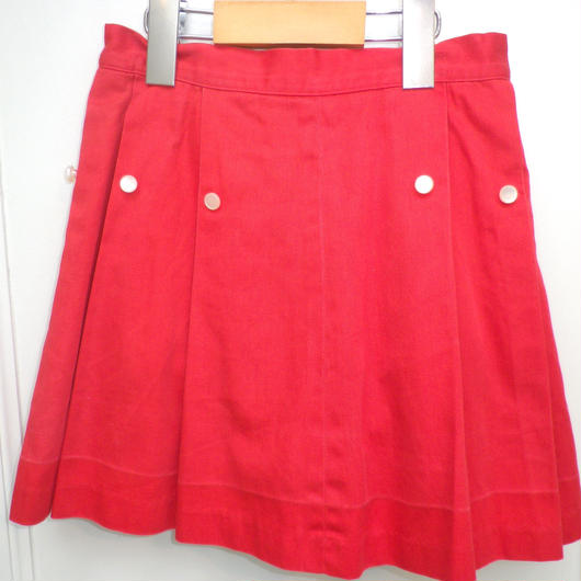 170.【USED】Vintage 50's Red Pleat Skirt