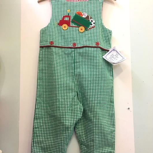 【USED】Deadstock Reversible gingham check cotton Overall( Made in U.S.A.)