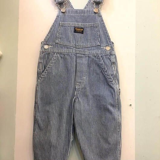 "【USED】""OSHKOSH"" Hickory stripe Denim Overall"