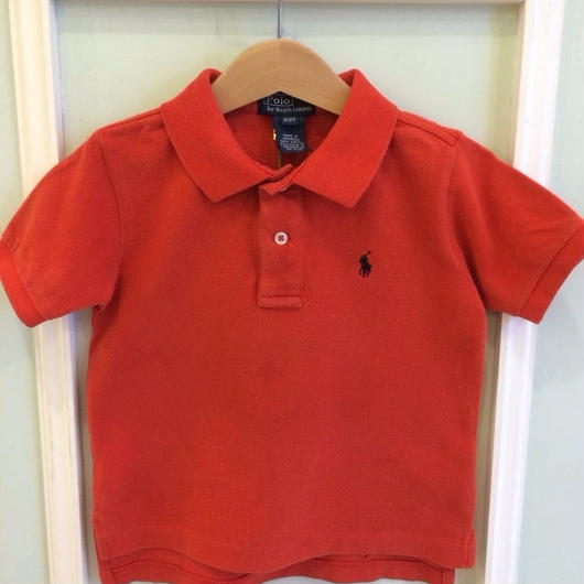 "【USED】""Ralph Lauren"" Red polo"