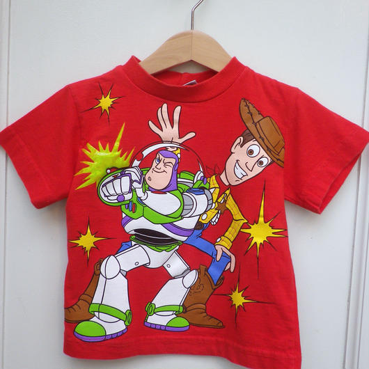 """【USED】""""TOY STORY"""" Buzz&Woody T-shirts"""