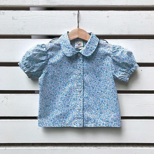 【USED】Light blue Flower print Blouse