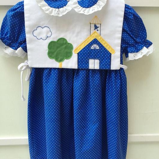 【USED】 Blue Dot Dress