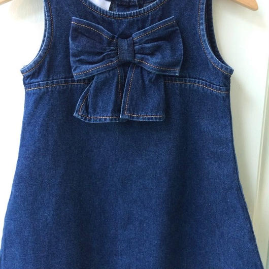 【USED】Big ribbon Denim dress
