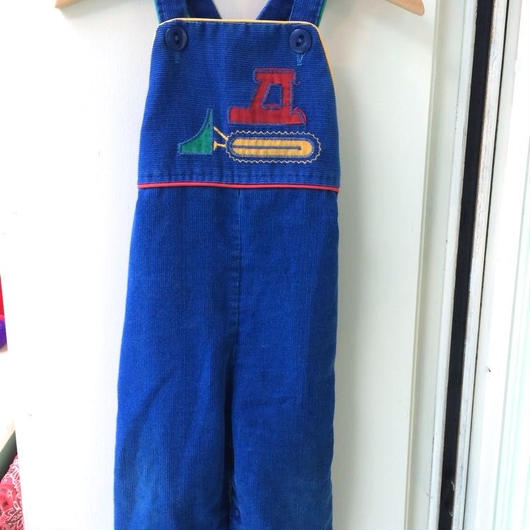 【USED】OLD U.S.A. Marine motif Overall