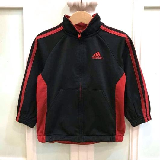 "【USED】""adidas"" black×red track top"