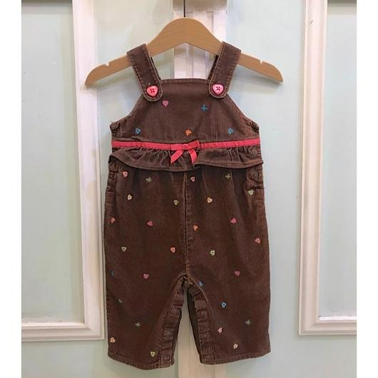 417.【USED】Brown Heart Overall