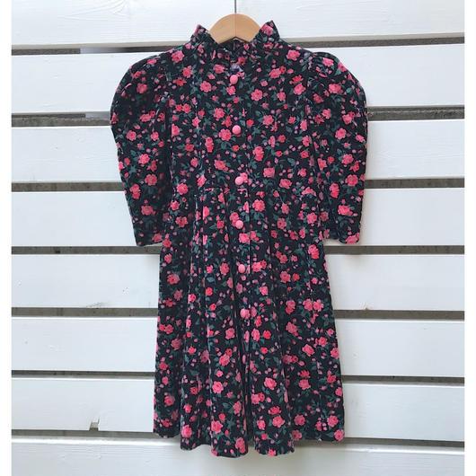 329.【USED】Black Flower Dress