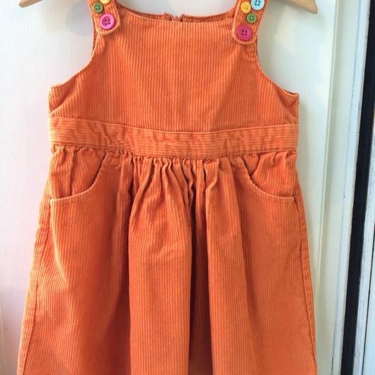 """【USED】""""GYMBOREE"""" Orange corduroy Dress"""