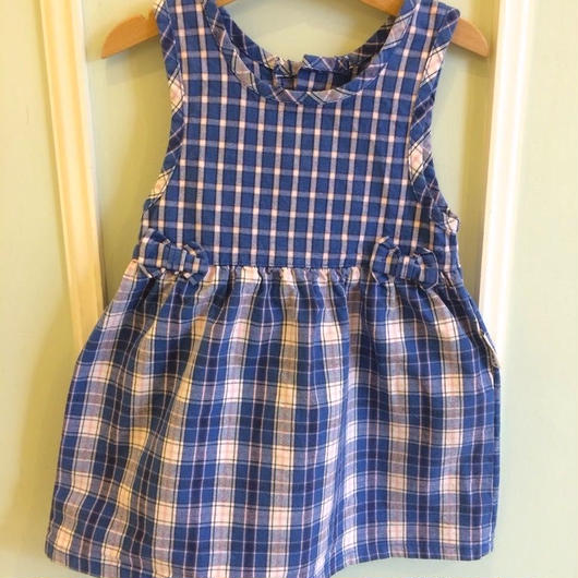 "【USED】""Health-tex"" Check dress (Made in U.S.A.)"