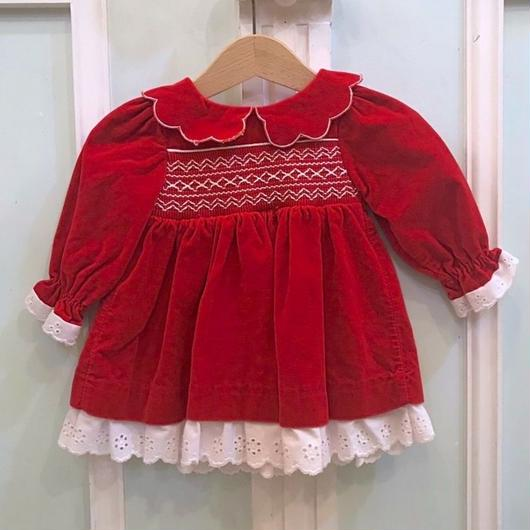 473.【USED】Red Embroidery Lace Dress