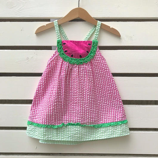 【USED】Watermelon design pink Dress