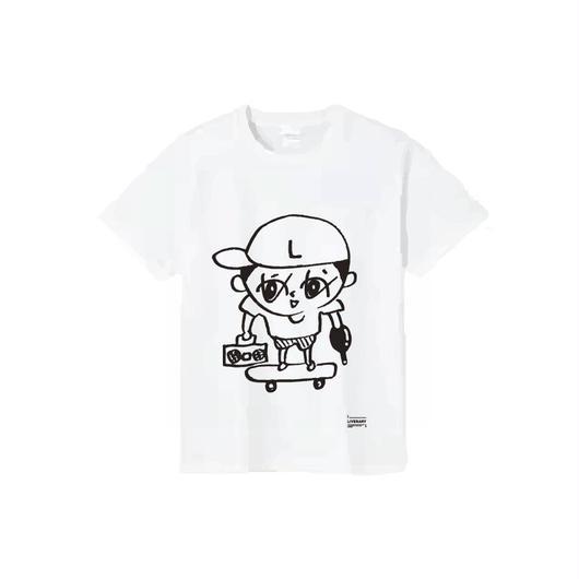 らいぶーくんT-SHIRTS/ホワイト/ブラック/ダークグレー