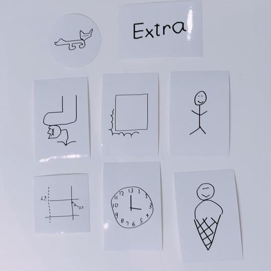 """Masanao Hirayama(HIMAA)×  LIVERARY  """"Extra"""" Sticker Set(8枚入り)"""