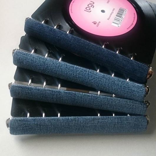本物のレコードでできたノート  004_D アップサイクル(UP cycle)