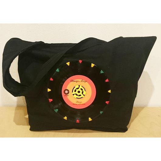 本物のレコードを使ったバッグ 「bagu」 canvas shoulder  black