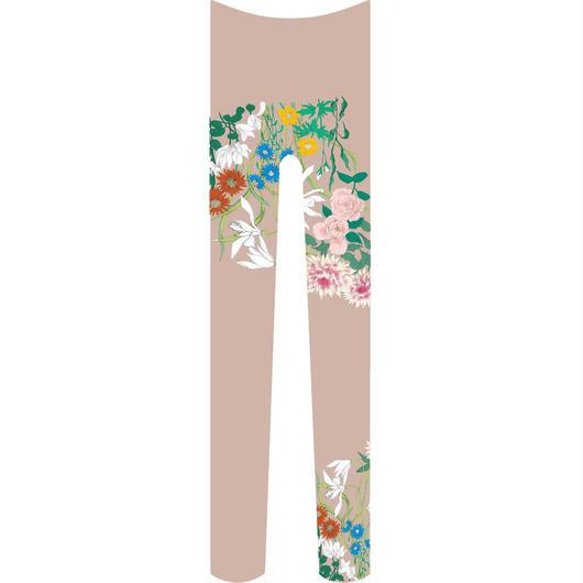 花 タイツ 灰桜色