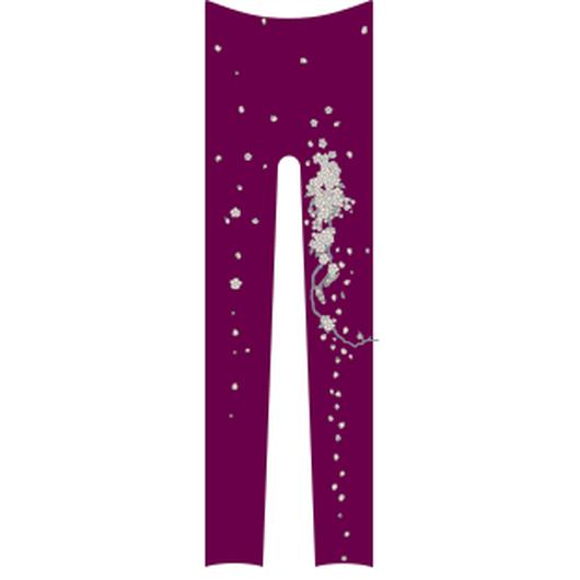 桜レギンス 紫式部色