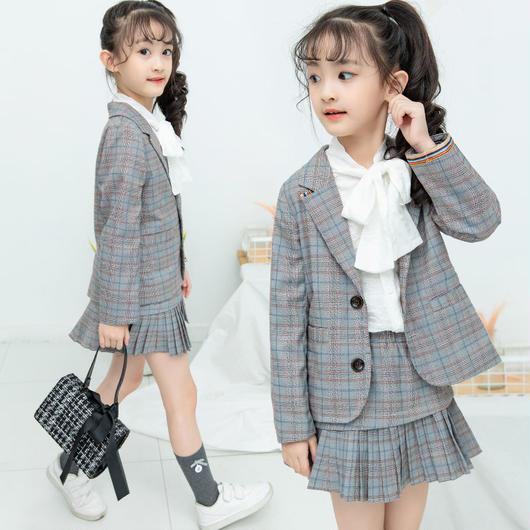 韓国子供服 キッズ フォーマル スーツ プリーツスカート ミニ丈 リボンシャツ 入学式 卒業式 女の子 ジャケット ブラウス スカート 2点セット 卒業式 スーツ TAGX11564