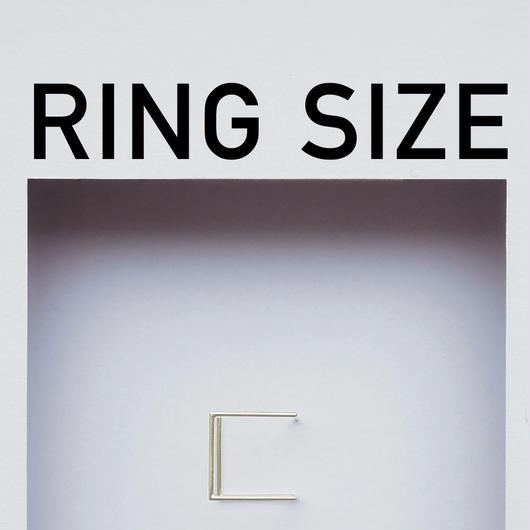リングサイズについて