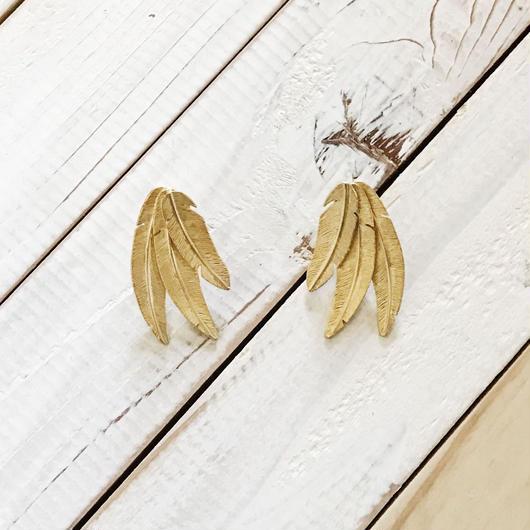 feather pierce 03 gold