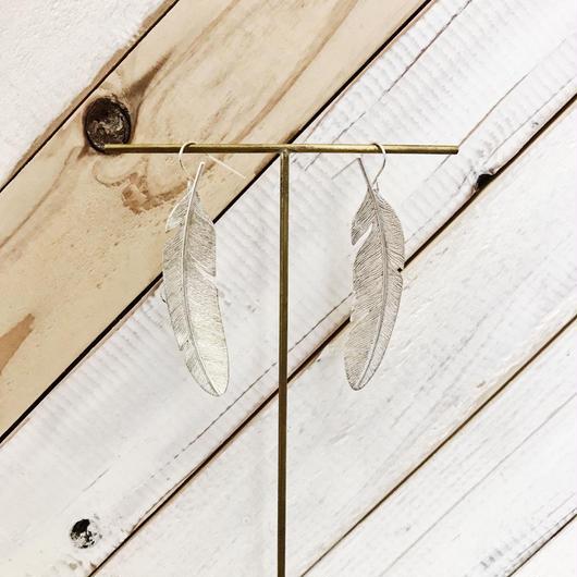 feather pierce 01 silver
