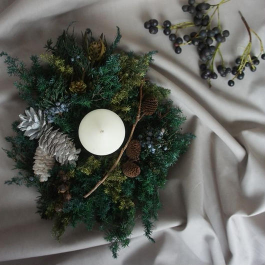 Preserved forest wreath