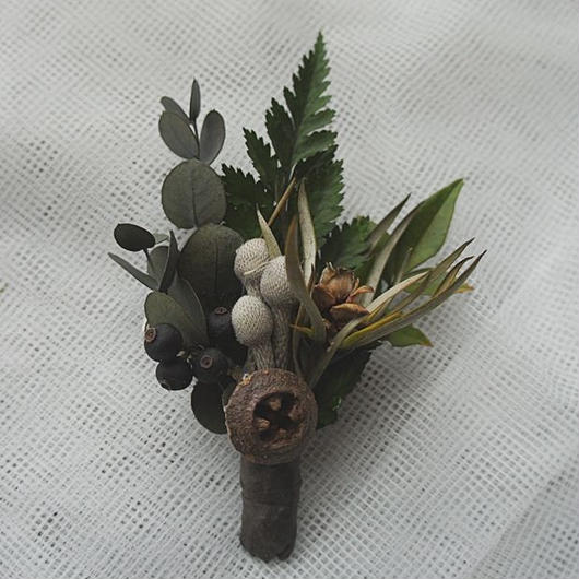 Boutonniere of Silver Bullnear