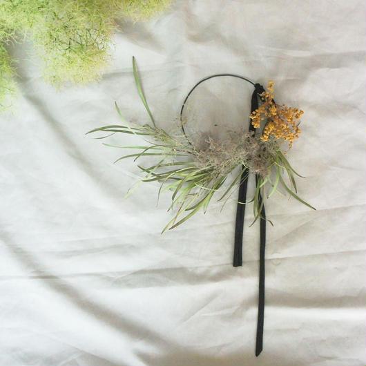 smoketree&mimosa wreath