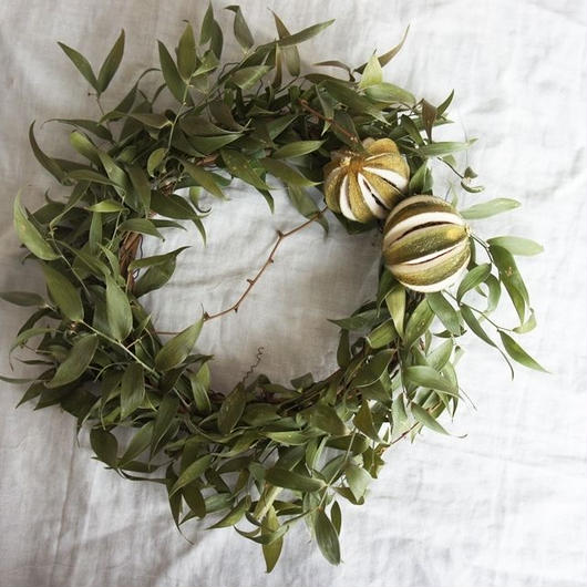 Wreath of Italian Ruskas and Lime